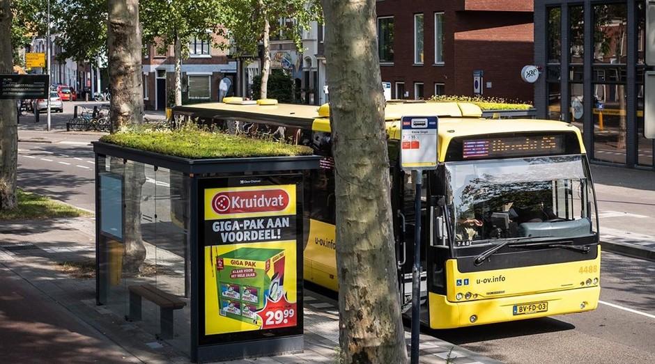 Atualmente, os telhados verdes estão em 316 pontos de ônibus.  (Foto: Reprodução: Instagram)