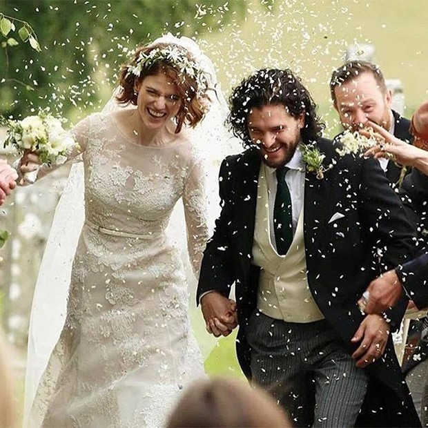 Rose Leslie e Kit Harington  (Foto: Instagram)
