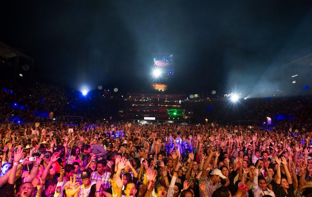 Arena de Barretos lotada durante show na Festa do Peão (Foto: Flavio Moraes/G1/Arquivo)