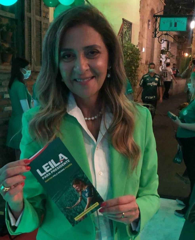 Leila Pereira, candidata à presidência do Palmeiras — Foto: Reprodução / Instagram