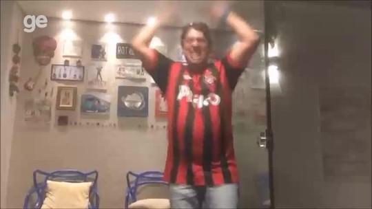 Torcedor do Athletico no TO vai à loucura com primeira conquista internacional; vídeo