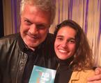 Pedro Bial foi conferir 'Rita formiga', monólogo com Priscila Steinman | Arquivo pessoal