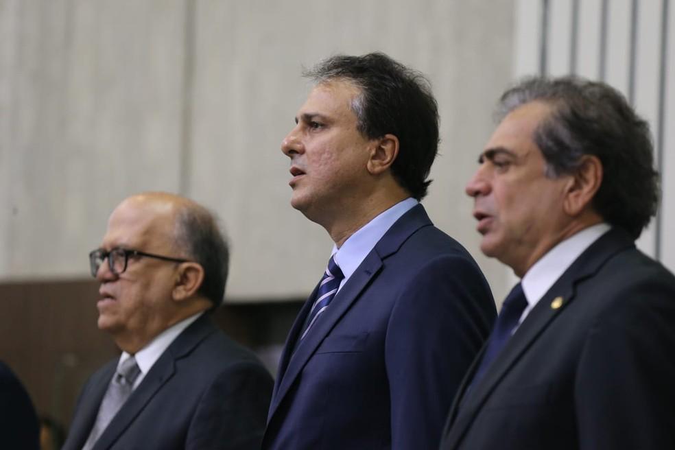 Camilo Santana toma posse para o segundo mandato — Foto: SVM