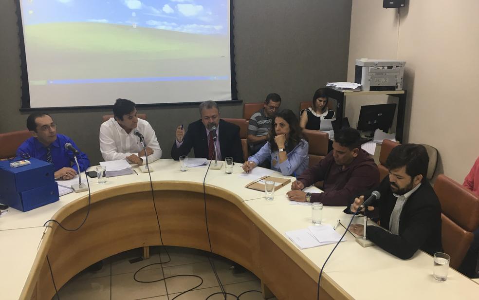 Vereadores apresentam dados sobre vagas em UTIs de Goiânia (Foto: Vitor Santana/G1)
