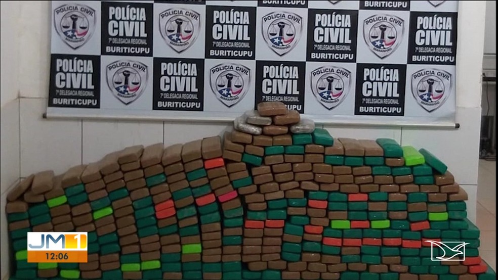 Policia Civil apreende mais de 300 quilos de maconha no município de Buriticupu — Foto: Reprodução/ TV Mirante