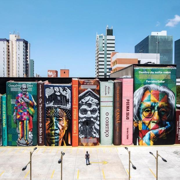 Mural de 400m² feito por Kobra em São Luís do Maranhão para comemorar os 405 anos da cidade (Foto: reprodução / instagram )