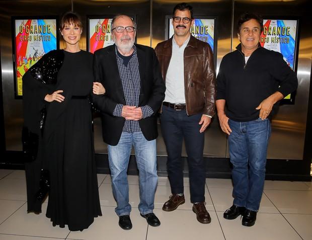 Mariana Ximenes, Cacá Diegues, Juliano Cazarré e Marcos Frota (Foto: Manuela Scarpa/Brazil News)
