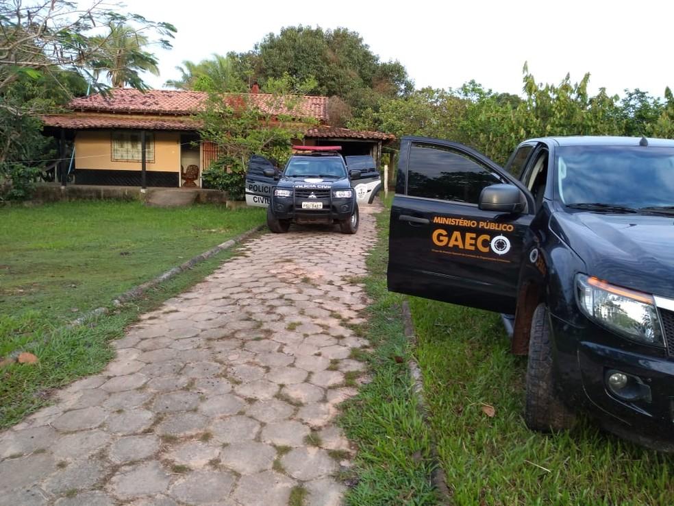 Operação da Polícia Civil e MP em Vitória do Mearim — Foto: Divulgação / Polícia Civil