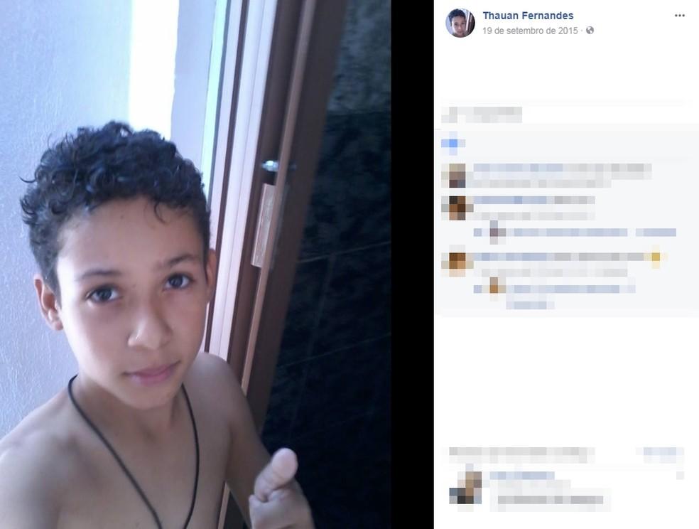 Thauan foi levado para o hospital, mas não resistiu (Foto: Reprodução/Facebook)