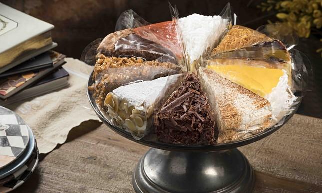 Torta mix, da Torta & Cia: cliente pode personalizar com até 10 fatias dos mais de 50 sabores da casa