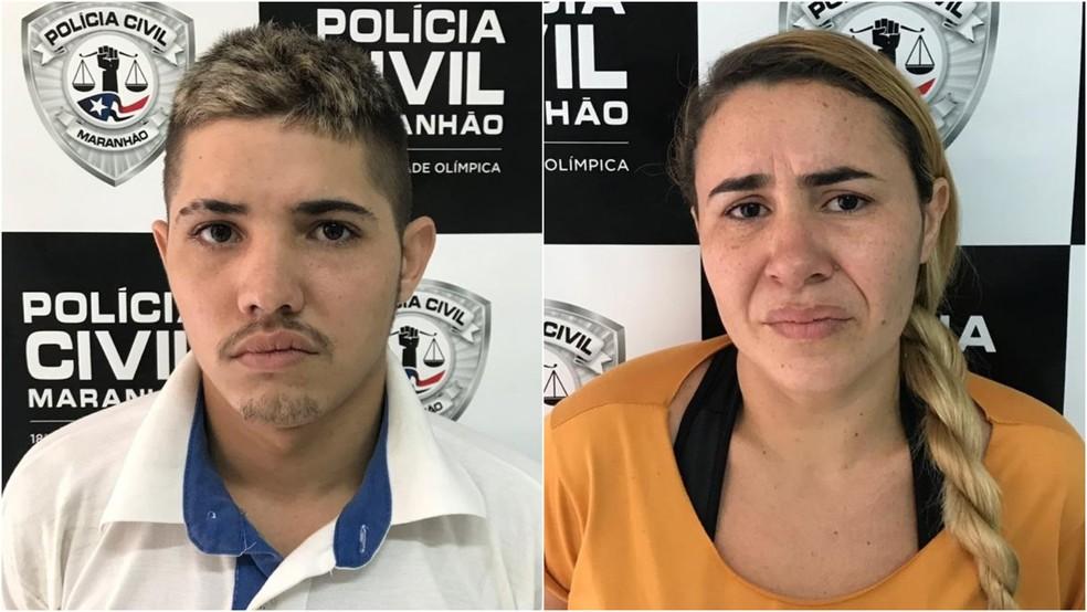 Josicleia dos Santos e Jadilson da Conceição são suspeitos de tráfico de drogas na Cidade Olímpica, em São Luís — Foto: Divulgação/Polícia Civil