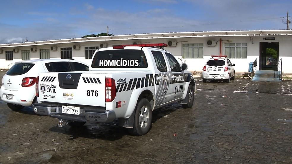 Delegacia de Homicídios de João Pessoa registrou o caso — Foto: Reprodução/TV Cabo Branco