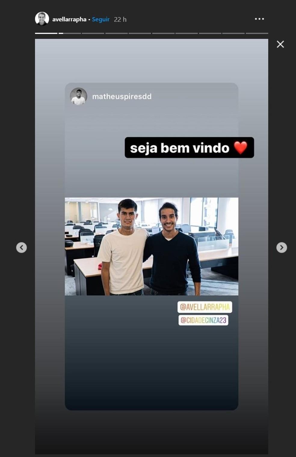 Rapha Avellar responde Matheus em sua rede social — Foto: Reprodução/Instagram