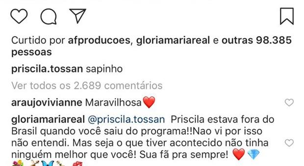 Comentário de Glória Maria (Foto: Reprodução/Instagram)