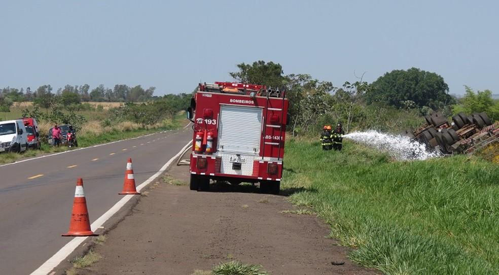 Acidente foi na SP-563, em Dracena (Foto: Jorge Zanoni/Cedida)
