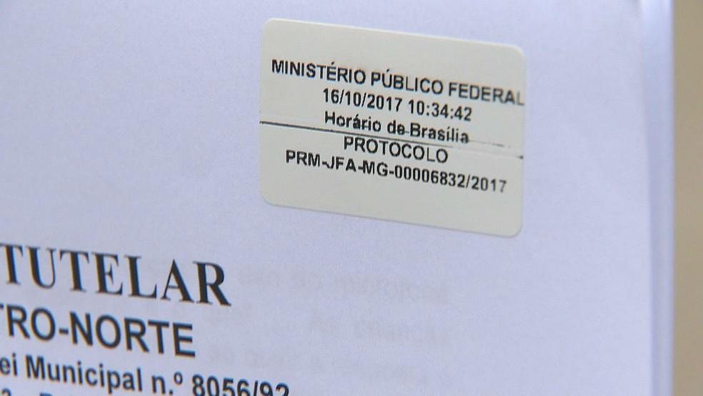 Pedido de providência sobre vídeo da UFJF foi protocolado nesta segunda-feira (16) em Juiz de Fora (Foto: Reprodução/TV Integração)
