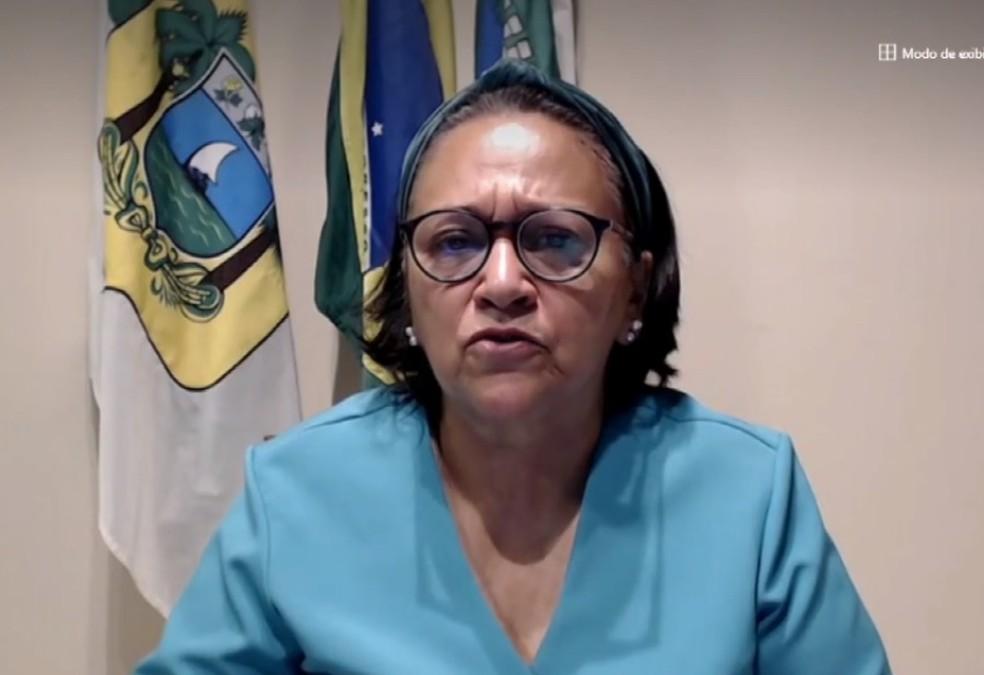 Fátima Bezerra (PT), governadora do RN, em entrevista ao RN 1 — Foto: Divulgação
