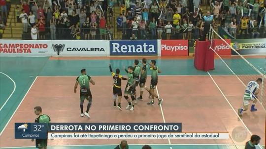 Vôlei Campinas perde para Itapetininga no primeiro jogo da semifinal do Campeonato Paulista