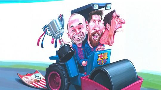 Coutinho, Messi e Suárez passam o rolo compressor do Barça sobre o Sevilla na Copa do Rei