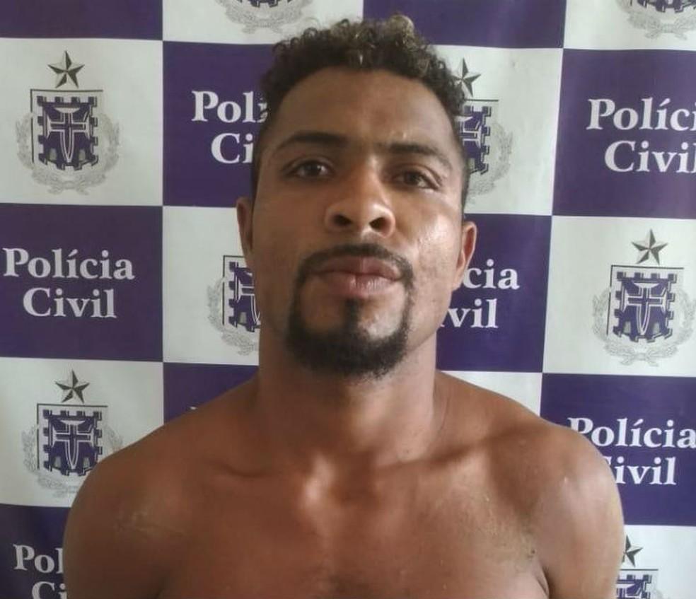 Suspeito de matar suíço de 73 anos foi preso na BA — Foto: Divulgação/Polícia Civil
