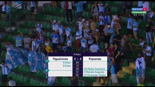 Paysandu arranca virada heroica diante do Figueirense