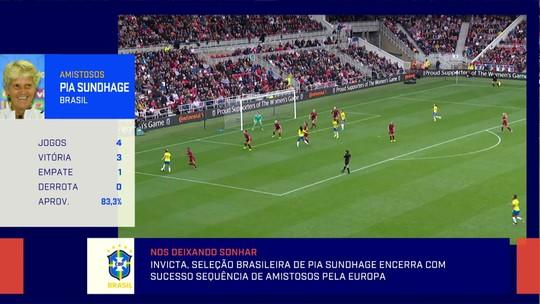 """Após quatro jogos, Renata de Medeiros compara Brasil feminino de Pia e de Vadão: """"Outra seleção"""""""