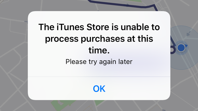 the itunes store is unable to process purchases