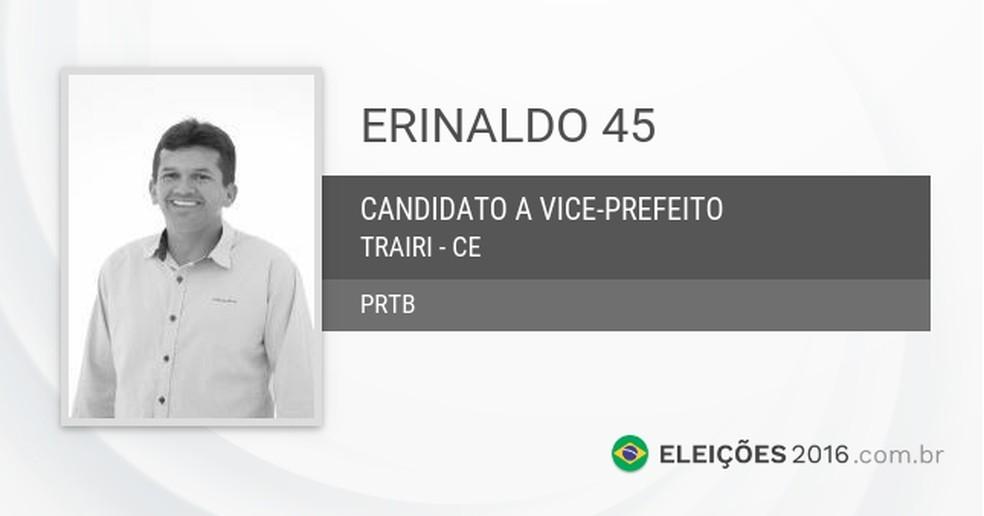 Político foi eleito a vice-prefeitura de Trairi em 2016. — Foto: Reprodução