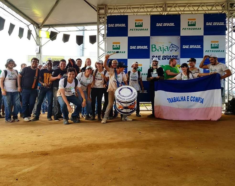 Estudantes da Ufes conquistam título na categoria de aceleração — Foto: Vitória Baja/Divulgação