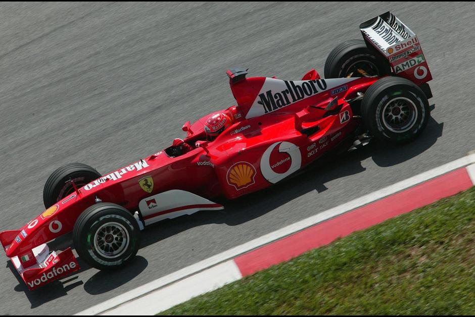 A Ferrari F2002, que deu o título a Michael Schumacher (Foto: Divulgação/Ferrari)