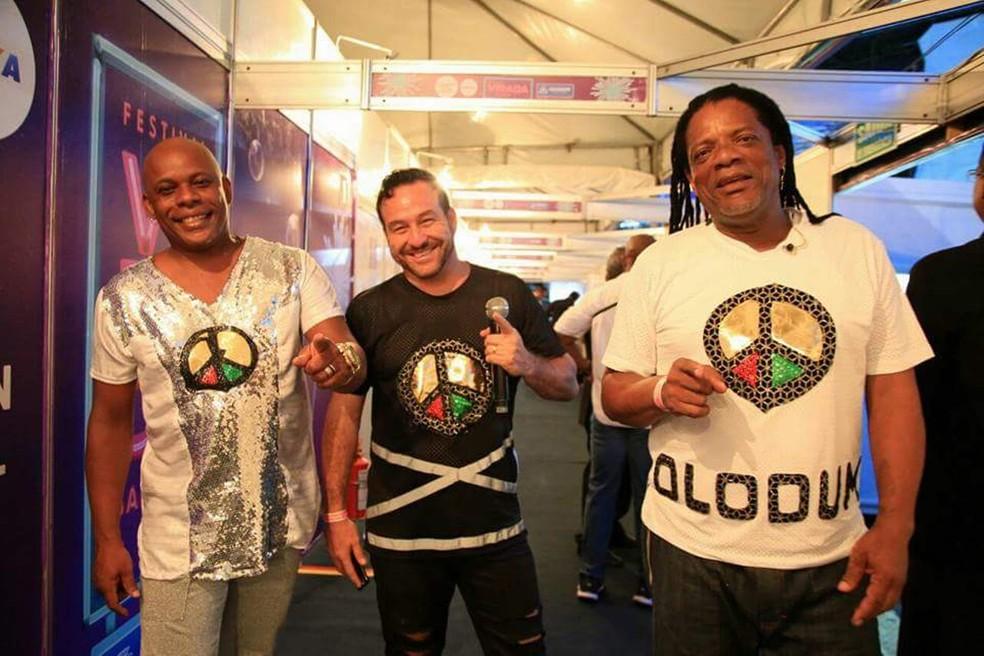 Olodum faz ensaio no Pelourinho — Foto: Magali Moraes/ Divulgação