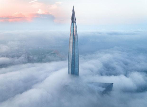 Arranha-céu mais alto da Europa está pronto; veja fotos (Foto: Divulgação)