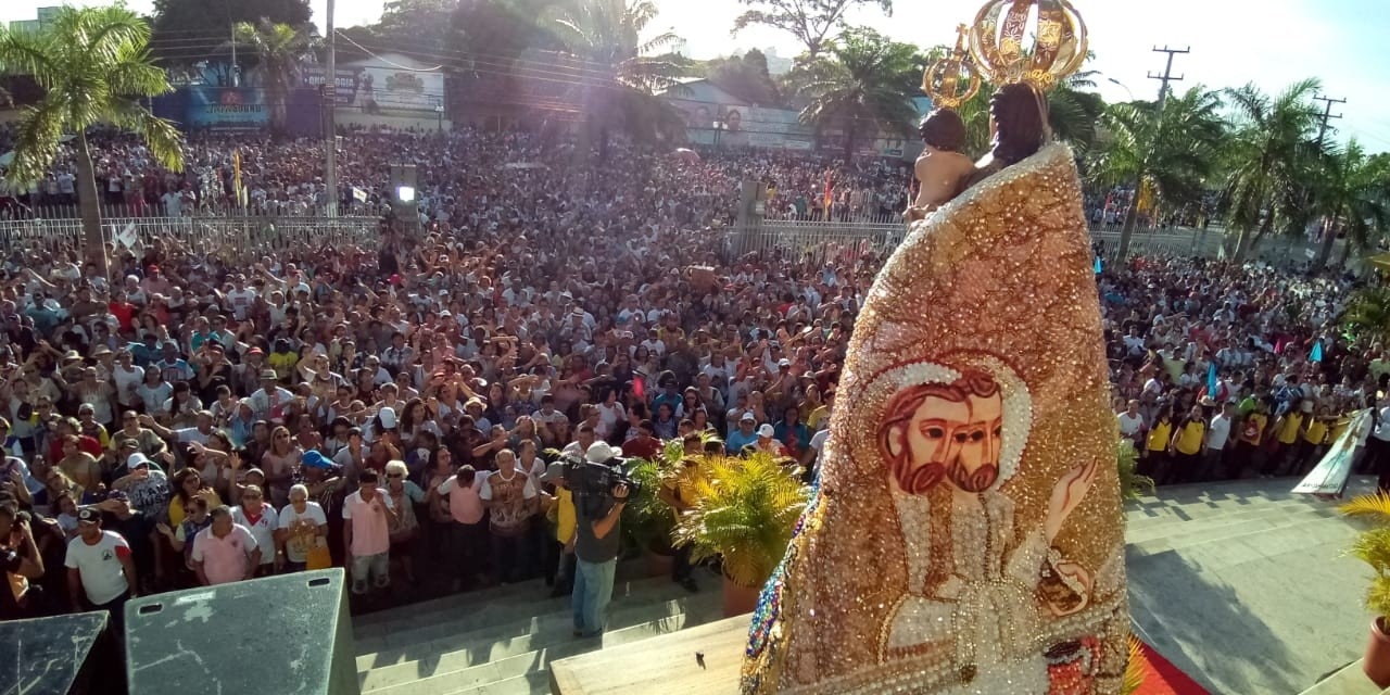 Cerca de 400 mil pessoas participam da romaria que homenageia a Nossa Senhora de Nazaré em Castanhal, no Pará - Notícias - Plantão Diário