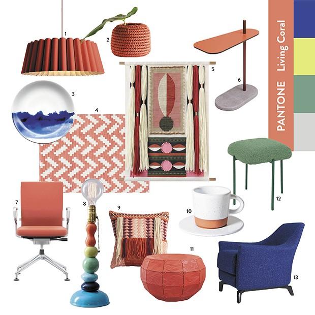 Produtos inspirados em paleta coma a cor do ano lançada pela Pantone  (Foto: Casa e Jardim )