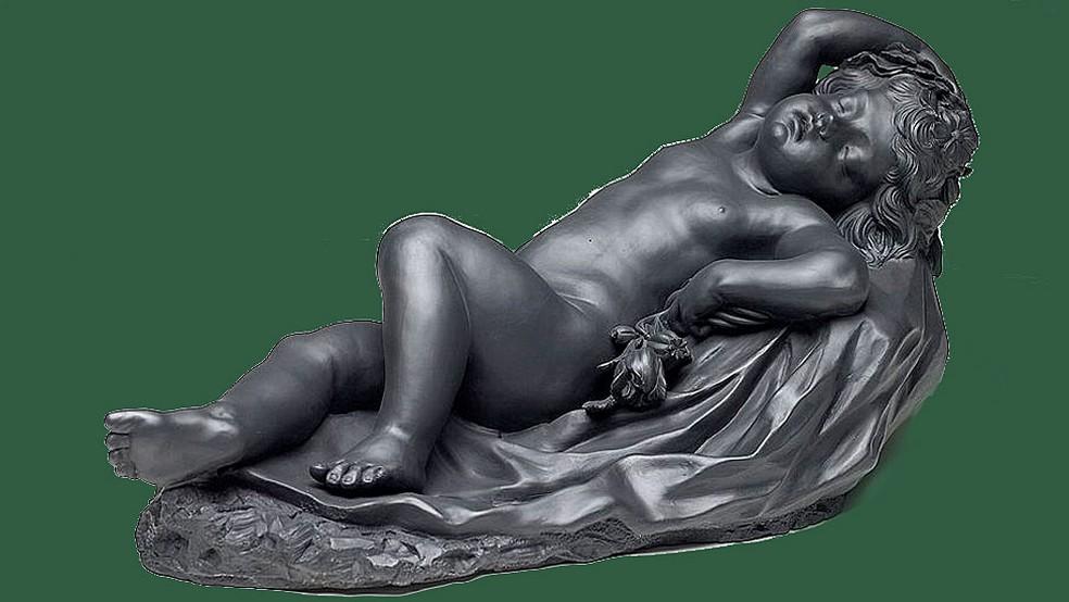 Observe o que Hipnos, deus do sono, tem na mão — Foto: Birmingham Museum of Art/BBC