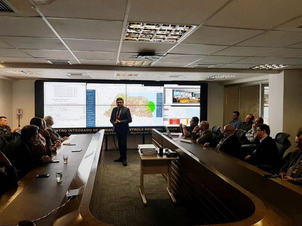 Secretário Nacional de Segurança Pública faz visita técnica a instituições no RN — Foto: Assecom Governo do RN