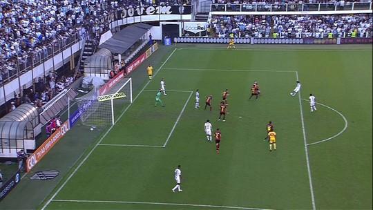 Assista aos gols da vitória do Santos por 3 a 0 sobre o Sport