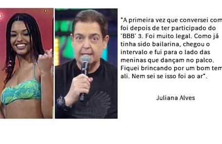Juliana Alves lembra conversa com Fausto após o 'BBB' Reprodução