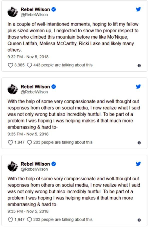 Rebel Wilson (Foto: Twitter)