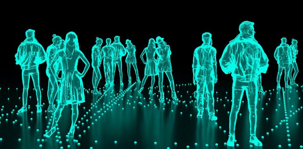 Pesquisa desenvolveu um sistema capaz de reproduzir o toque em hologramas — Foto: Reprodução/The Conversation