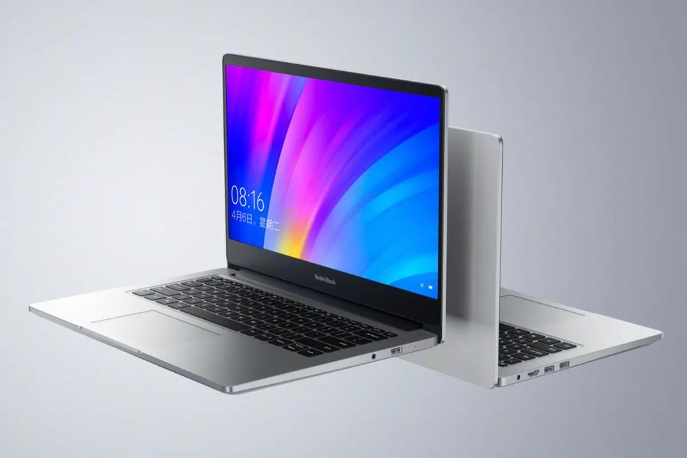 Notebook tem design sóbrio e bateria generosa, mas fica devendo leitor de cartões e USB-C — Foto: Divulgação/Xiaomi
