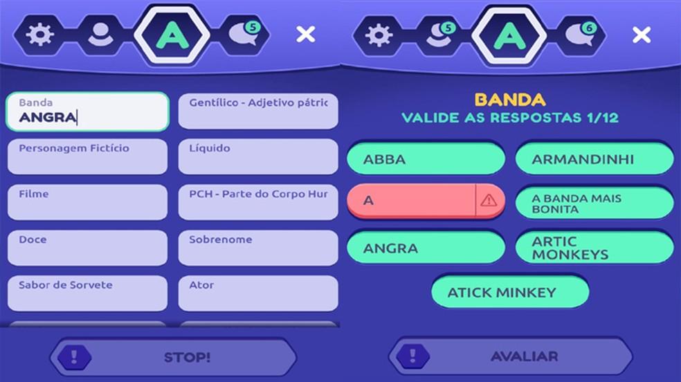 StopotS traz o clássico jogo Stop / Adedonha para jogar online no seu smartphone — Foto: Reprodução/Rafael Monteiro