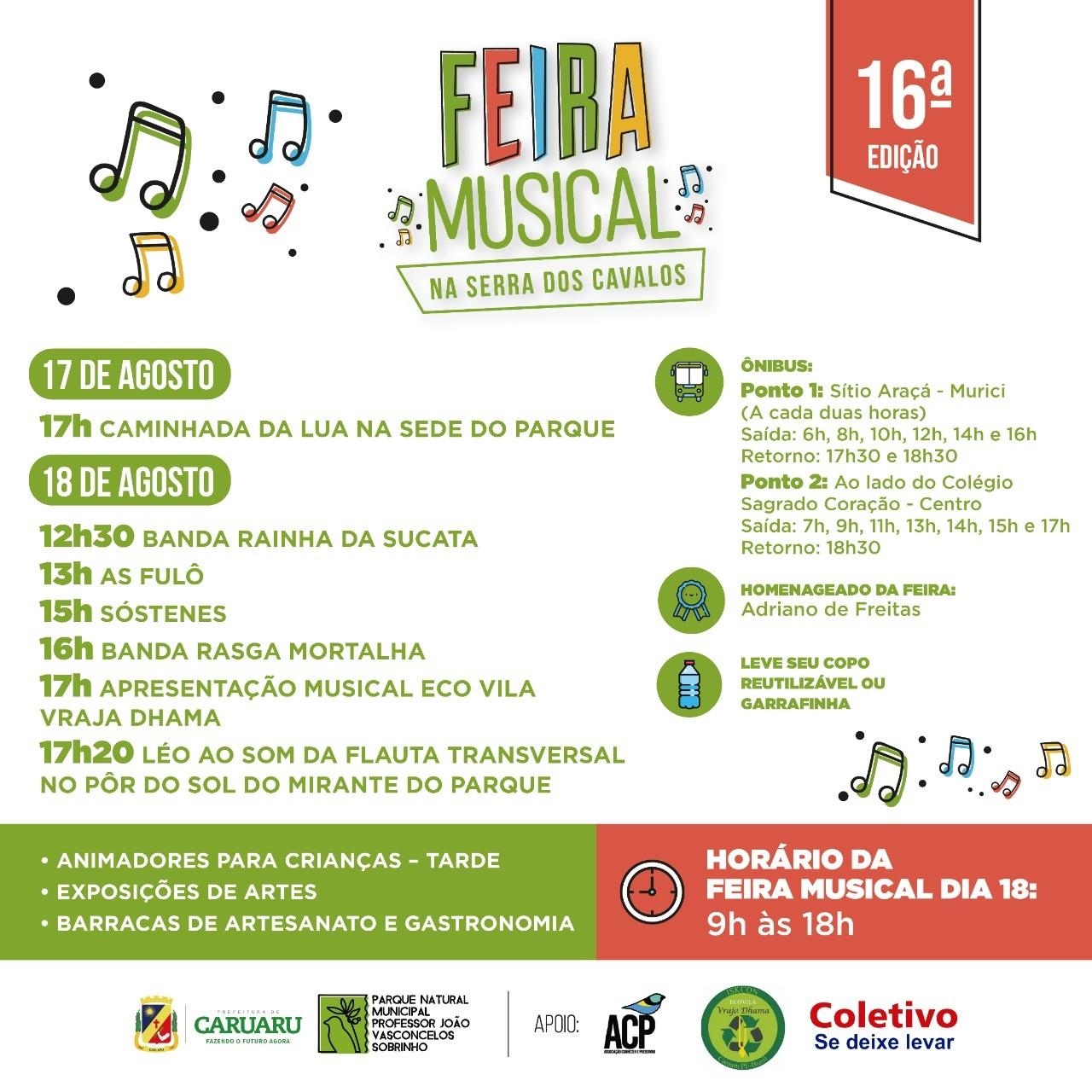16ª edição da 'Feirinha Musical na Serra dos Cavalos' é realizada em Caruaru - Notícias - Plantão Diário