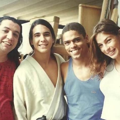 Ademir Zanyor com André Marques, Bussunda e Maria Paula (Foto: Reprodução)