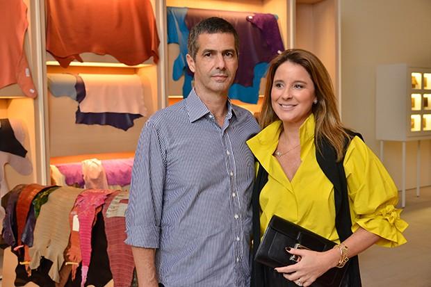 Romeu e Adriana Trussardi (Foto: João Sal/Divulgação Hermès  )