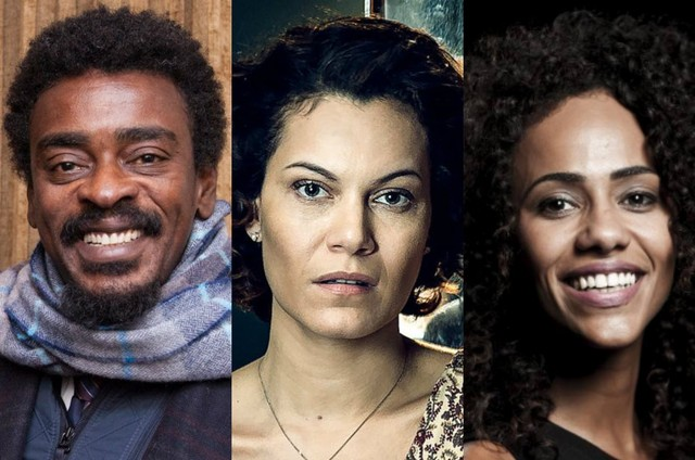 Seu Jorge, Hermila Guedes e Naruna Costa (Foto: Reprodução e TV Globo)