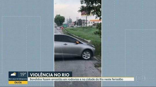 Motoristas são alvos de seis arrastões em 24 horas no RJ