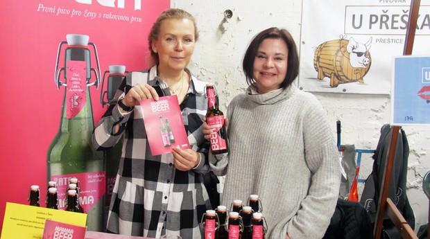 Criadoras da Mamma Beer, cerveja tcheca para pacientes em quimioterapia (Foto: Divulgação)