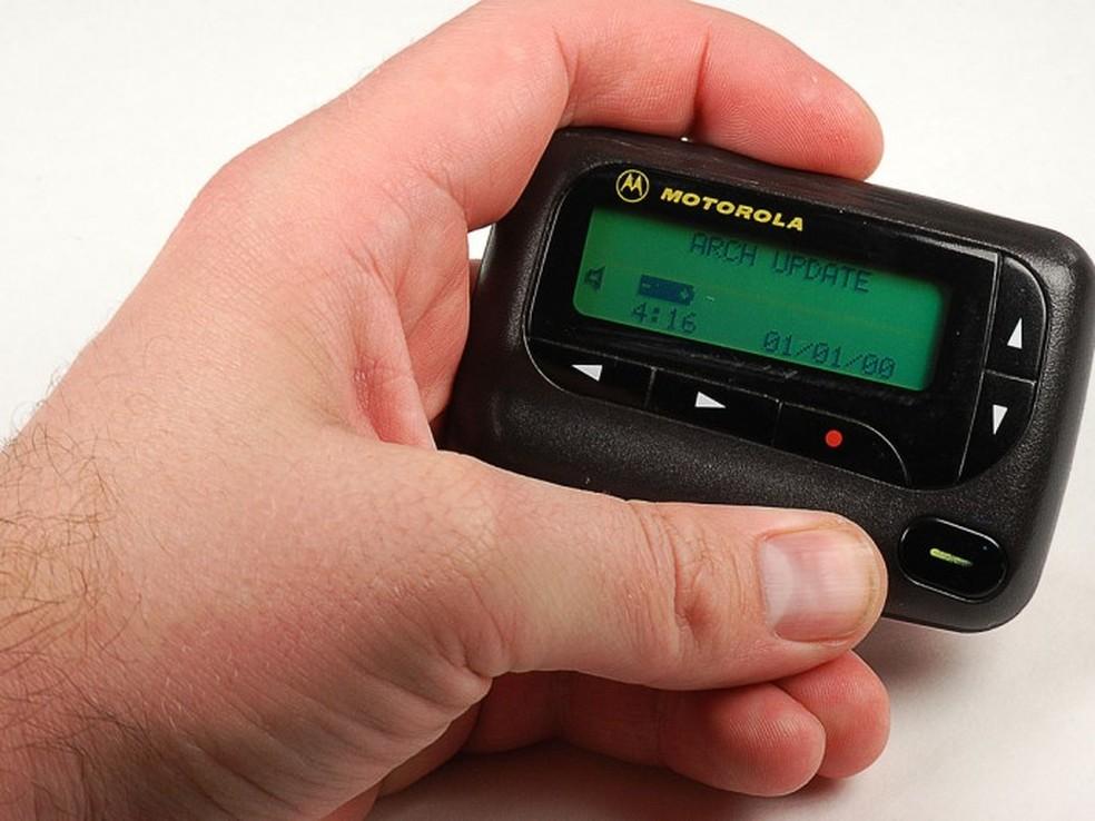 Motorola era uma das principais fabricantes de pager. — Foto: Reprodução/ Silicon.co.uk