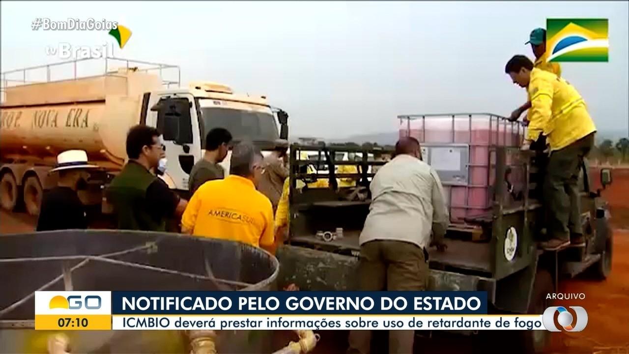 Goias notifica ICMBio sobre uso de retardante contra fogo na Chapada dos Veadeiros